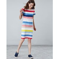 Blue Multi Stripe Riviera Long Line Jersey Dress  Size 8