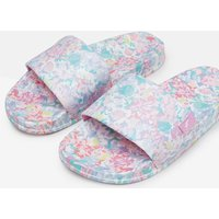 White Mermaid Floral Poolside Pvc Sliders  Size Childrens 2
