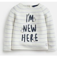 Cream New Here Winnie Knitted Jumper  Size 12M-18M