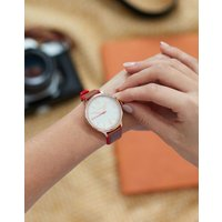Tan Darbridge Tan Womens Leather And Silicone Strap Watch  Size One Size