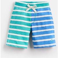 Turquoise Cream Stripe Bucaneer Jersey Short 1-6 Yr  Size 2Yr