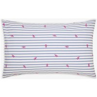 BLUE LOBSTER STRIPE Orchard ditsy stripe standard Pillowcase  Size One Size