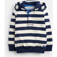 Cream Navy Stripe Kingsley Overhead Sweatshirt 3-12 Yr  Size 7Yr-8Yr