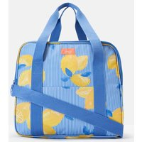 Blue Lemon Stripe Picnic Cool Bag Printed And Fully Insulated  Size One Size