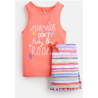 Red Mermaid Tidy Nesta Tank Top And Shorts Set 1-12 Yr  Size 5Yr