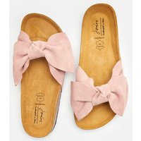 SOFT PINK MOUSE Bayside Suede Bow Slider  Size Adult Size 6