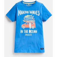 BLUE MAKING WAVES Ben Screenprint T-Shirt 3-12 Yr  Size 11yr-12yr