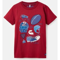 Red Rugby Wildside Applique T-Shirt 3-12 Years  Size 6Yr