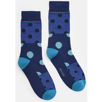 BLUE MULTI SPOT Striking Socks  Size 7-12