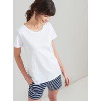 Bright White Nessa Lightweight Jersey T-Shirt  Size 6