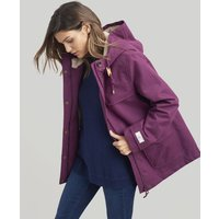 ITALIAN PLUM Coast cosy Sherpa Fleece-Lined Waterproof Jacket  Size 14