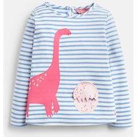 Lake Blue Dino Egg Chomp 3D Applique T-Shirt 0-6 Years  Size 6M-9M