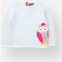 Sky Blue Stripe Owl Winnie Intarsia Jumper  Size 0M-3M