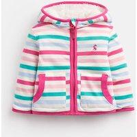 Neopolitan Stripe 204665 Reversible Zip Up Fleece  Size 12M-18M