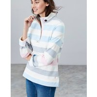 BLUE MULTI STRIPE Saunton Sweatshirt  Size 10