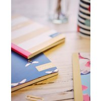 Navy Stripe Bee B6 Notebook Navy Bee  Size One Size