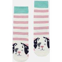Pink Stripe Dalmatian Neat Feet Character Intarsia Socks  Size Childrens 9-12
