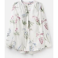 CREAM BOTANICAL 204521 Printed Woven Blouse  Size 12