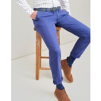 SKIPPER BLUE The laundered chino Slim Fit Trousers  Size W32-L32