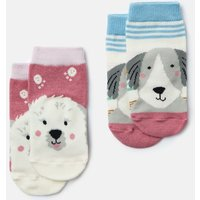 Multi Dogs Neat Feet 2 Pack Character Socks  Size 6M-12M