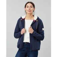 French Navy Joanna Zip Through Fleece Lined Hoodie  Size 8