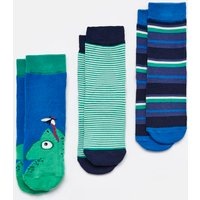 BLUE CHAMELEON Brilliant bamboo Socks Three Pack  Size Size 9-12
