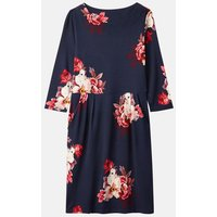 Navy Bircham 206931 Printed Jersey Slub Dress  Size 14