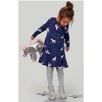 Navy Unicorn Josie Jersey Printed Dress 1-6 Yr  Size 1Yr