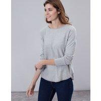 Grey Marl Poppy Round Neck Jumper  Size 10