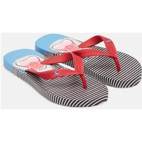 Blue Stripe Shark Printed Flip Flops  Size Childrens 13