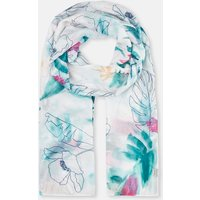 Palm Floral 204149 Longline Woven Scarf  Size One Size