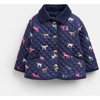 Navy Horses Mabel Quilted Jacket  Size 3M-6M