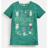 GREEN STOP BUGGING ME Wildside Artwork Tee 3-12yr  Size 11yr-12yr