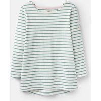 205891 3/4 Length Sleeve Jersey Striped Top