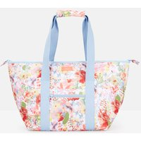 WHITE FLORAL Picnic carrier bag Printed and Fully Insulated  Size One Size