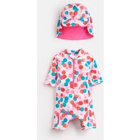 MULTI FAIRY SPOT Sun Printed Swim Suit Set  Size 0m-3m