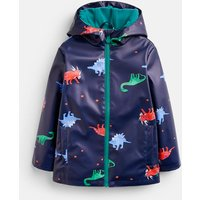 Navy Dinos Skipper Showerproof Rubber Coat 1-6 Years  Size 4Yr