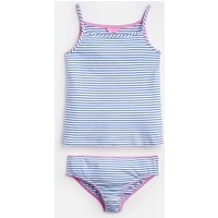 White Blue Stripe Melody Vest And Pant Set 3-12 Yr  Size 9Yr-10Yr