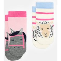 HORSE 204085 Character Socks Two Pack  Size 0m-6m