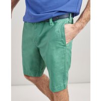 Mint Green Laundered Linen Mix Oxford Chino Shorts  Size 36