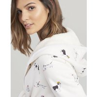 Ida Jersey Dressing Gown with Fluffy Inner
