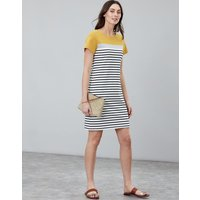 Gold Block Stripe Riviera Jersey Dress  Size 12