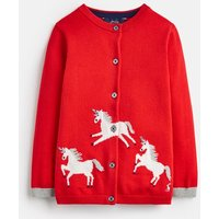 Red Galloping Horses Madison Intarsia Cardigan 1-6 Years  Size 6Yr