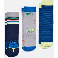 NAVY BUG Brilliant bamboo Socks Three Pack  Size Size 13-3