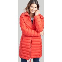 Red Elodie Long Lightweight Padded Jacket  Size 8