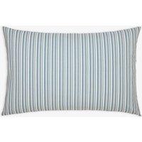 BLUE STRIPE Cottage garden floral stripe standard Pillowcase  Size One Size