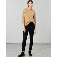 Cream Gold Stripe Esme Slash Neck Jersey Top  Size 12