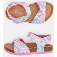 WHITE MERMAID FLORAL Tippy toes Strapped Sandal  Size Junior 3