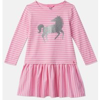 Pink White Stripe 208097 Embellished Drop Waist Dress  Size 9Yr-10Yr