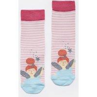 Pink Stripe Fairy Neat Feet Character Socks  Size Size 13-3